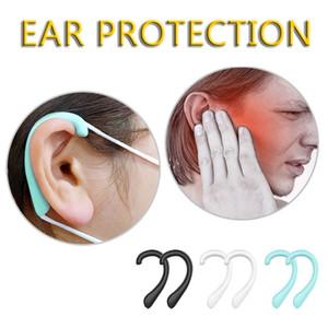 100pcs / 50pairs Universal Ear Hook Hookar Maskear Protection Pad مريحة Silicone واقية Earmuffs on For Women Men Unisex