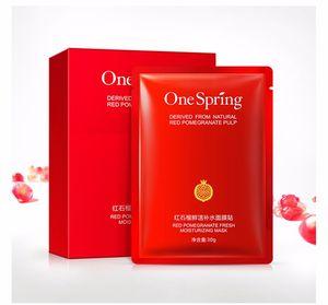 10 adet OneSpring Kırmızı Nar Yüz Maskesi tony moly Nemlendirici Beyazlatma Maskesi kore Güzellik Yüz Sac Maske Cilt Bakımı ...