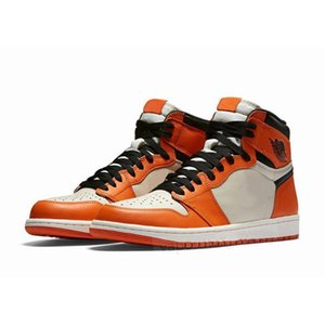 Cheaps Men Basketball Shoes 1s High OG 1 Bred Toe Fearless Obsidian Pine Orange Court UNC 1s Chicago Banned Patent Women Sneakers Trainers