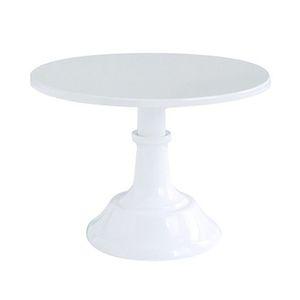 Metal Iron Cake Stand Round Pedestal Dessert Holder Cupcake Display Rack Bakeware White Birthday Wedding Party Decoration