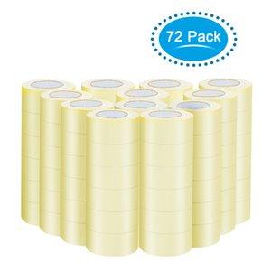 """72 Rolls 1.9"""" Yards X110 (330' ft) Box sigillamento della scatola di imballaggio pacchetto nastro adesivo trasparente"""