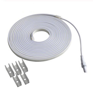 24 Volt LED Neon Strip IP67 DC24V Flexible Light 4X10mm Flat Surface Neon Rope for Outdoor Waterproof Tape Neon Sign DIY 1 - 10M Blue White