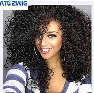200% плотность глубокий странный кудрявый 360 кружевной фронтальный парик с бахромой блестящий бразильский человеческий шнурок волос передний парик предварительно сорванный