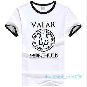 2019 Summer T-Shirt Men and Women Valar Morghulis All Men Must Die Valyrian Power Game T-Shirt Casual 100% Cotton Top T-Shirt S-3XL d06