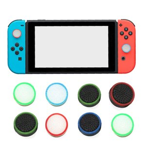 Dual Color Silicone Rubber Thumb Stick Cap for Nintend Switch Joy-Con Controller Joystick Cover Grips DHL FEDEX EMS FREE SHIPPING