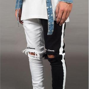 Men Stylish Ripped Jeans Pants Biker Skinny Slim Straight Frayed Denim Trousers New Fashion Skinny Jeans Men Clothes S-3XL