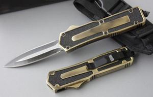 Scarab 4 modèles à double pêche double action bord or auto-défense automatique de camping Couteau de chasse Couteau de poche cadeau de Noël pour les hommes C36 C81