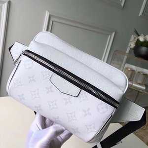candy bag top quality OUTDOOR fashion waist bag man messenger bag canvas shoulder bags genuine leather purse male briefcase with box A004