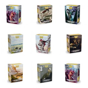 100PCS LOT Dragon Shield Picture Cards Sleeves Series Game Cards Playing For Magic Star Realms PKM Board Games Art Sleeves