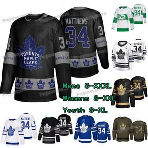 Auston Matthews Jersey # 34 Maple Leafs de Toronto Salut au service OVO Black Golden 2019 Allstar Mens Lady Yuuth Jerseys