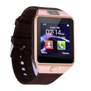 SmartWatch DZ09 inteligente Reloj Bluetooth con la cámara de tarjeta SIM para los teléfonos Android de Apple iWatch Dz09 inteligente de SIM con el paquete al por menor