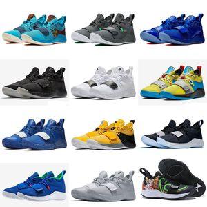 PlayStation PG 2.5 lobo cinzento Optic Amarelo Branco Paul George 2,5 Campeão Homens Running Shoes para uma boa qualidade Sports Sneakers 7-12