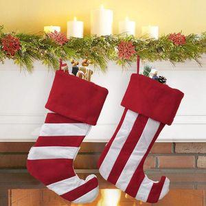 Новогоднее украшение Креативный дизайн Рождественский чулок Для детей мешок подарков конфеты сумки Рождественская елка орнамент носки Большой размер Xmas сумка