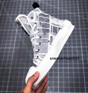 Nuovo progettista B23 obliqua High Top Sneakers B23 B22 trasparente giornale stampato Low Top scarpe di bordo 36-44