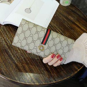 مصنع للمرأة في الجملة حقيبة يد بسيطة قدرة عالية المطبوعة محفظة اتجاه الشارع المقابل الجلدية الطويلة محفظة جلد المرأة متعددة الوظائف