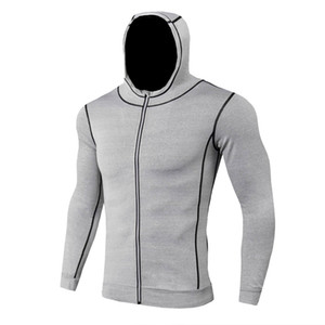 Wholesale New Fashion Men Hoodies Long Sleeve Fitness Sweatshirts Mens Zipper Hoodie Autumn Winter Sportswear Male Pullover Black Jacket