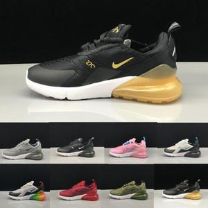 Nike Air Max 270 airmax Aria OG bambini scarpe Cactus 27 cuscino d'aria esterna del bambino Athletic 27 della ragazza del ragazzo dei bambini Sneaker Size 28-35 Esecuzione