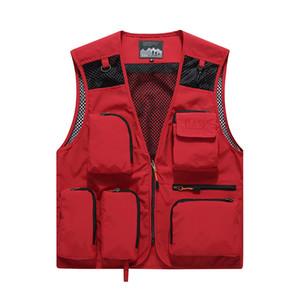 Suit Professional Studio Trabalho Vest fotógrafo Outwear Vest malha respirável trabalho dos homens Hyweacvar vermelho / azul /