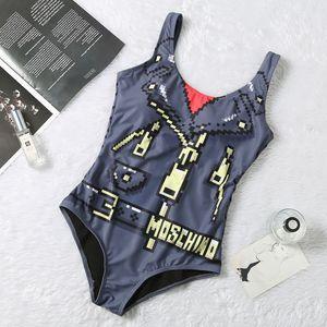 MOSCHINO SS20 новое поступление высокое качество дизайнер Mos купальник летний пляж бикини купальники для женщин сексуальный размер S-XL 8818