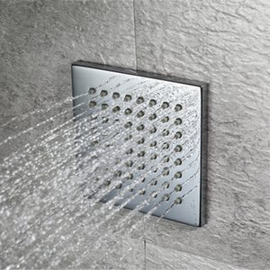 현대 디자인 샤워 바디 제트기 벽 장착형 4 인치 정사각형 / 측면 스프레이 제트 / 황동 크롬