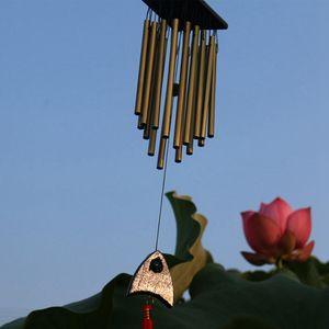 Anti-Rost Garten Wind Chime Großer Massivholz Jahrgang Kupfer Wind Chime Metall 16 Rohr Segen Chimes