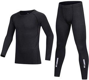 Kids' Boys Long Sleeve Base Layer Compression Athletic Shirt Tights Top & Bottom Set Unisex