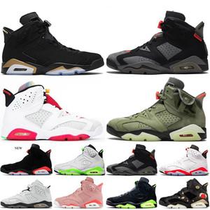 الأسهم X لدت الرجال 6 6S أحذية كرة السلة هير UNC القطة السوداء الأبيض الأشعة تحت الحمراء DMP كارمين رجل مدرب الرياضة حذاء رياضة حجم 7-13