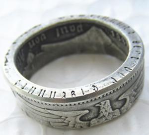 Alemanha Moeda de prata anel de 5 MARK Banhado a Prata Handmade em tamanhos 7-12