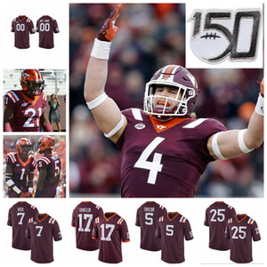 Virginia Tech Hokies maglie Mens Kaleb Smith Jersey James Mitchell Tayvion Robinson Michael Vick College Football pullover su ordinazione cucito