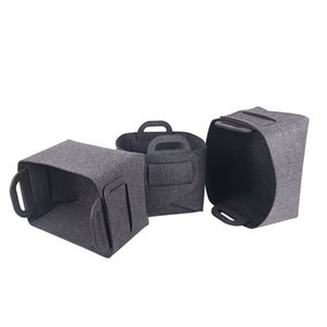Cestino portaoggetti in feltro Cestini portaoggetti sporchi Nero Personalizzabile Arredamento per la casa Varie Borse per negozi Nuovo arrivo 9 9lk L1