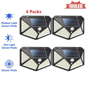 100 LED solare impermeabile Buitenlamp lampada esterna del sensore della luce della parete del rivelatore di movimento Percorso Garage Patio illuminazione di sicurezza Night Light 4