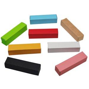50pieces 2 * 2 * 7.1cm 8 couleur Craft Paperboard Boîtes de carton rouge à lèvres en papier kraft Parti décor Paquet Boîte Désherbage Bricolage Stockage cadeau