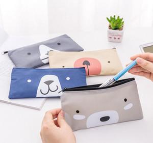 Material escolar Papelaria Kawaii caixa de Lápis para a menina Caçoa o Presente Da Lona Sacos de Caneta Escola Bonito caixa de lápis Saco de Lápis escola