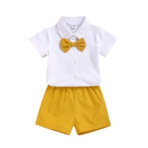 2020 new casual kids suits fashion Summer Brother and sister suits short sleeve T shirt+shorts 2pcs set baby clothes kids sets B1299