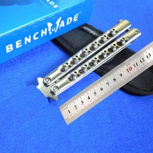 BM43 faca borboleta BM31 BM47 Benchmade faca CNC SWING encaixe 440 da lâmina (estilo gota) 60HRC BM facas ferramenta de montagem