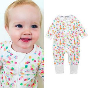2020 Baby Pajamas Kids Fashion Jumpsuits Printed Casual Baby Girls Boys Unisex Newborn Rompers Kids 1-pieces Pajamas New Children Sleepwear