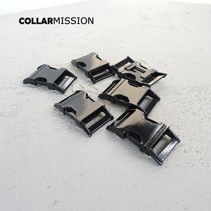 Yan salma kaliteli Zamak CK25H toka torba DIY paracord hayvan yaka tokalar için metal kaplamalı metal toka 25mm kavisli