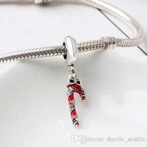 Wholesale 20pcs Christmas Magic Wand Charm Sterling Silver European Charms Bead Dangle Fit Pandora Bracelets Snake Chain Fashion DIY Jewelry