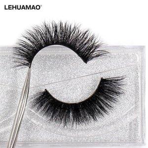 LEHUAMAO Mink Lashes 3D Mink Eyelashes 100% Cruelty free Lashes Handmade Reusable Natural Eyelashes soft False Makeu A08