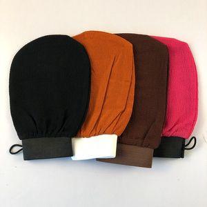 Марокко перчатки для ванной комнаты отшелушивающие отшелушивающие перчатки Хаммам скраб для перчаток Волшебная пилинг перчатка отшелушивающая загара для удаления рукавицы без эпакетов