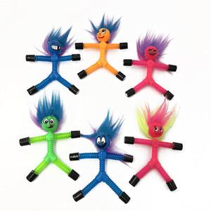 красочные Магнит Бенди Мужчины Дети Смешные игрушки Выражение пружинные магнит люди творческие магнитный бой взять декомпрессия головоломки детские игрушки