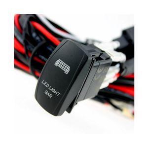 자동차 40A 릴레이 퓨즈 배선 하네스 베틀 키트 LED 라이트 바에서 오프 레이저 로커 스위치