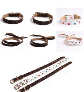 New Classic Designer Hundehalsband-Muster PU-Leder Haustier Halsbänder Einstellbare Marke Cat Leinen Außen Personality Niedlich Hundehalsband Zubehör