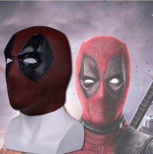 New Hot Deadpool 2 Marvel Deadpool Masken Halloween Cosplay Kostüm Requisiten Superheld Film Latexmaske Sammeln Spielzeug Volle Gesichtsmaske