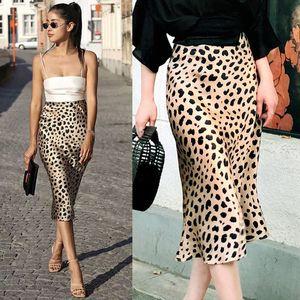 Yepyeni Kadınlar Yüksek Waisted Leopard Baskı Etekler Stretch Dantelli Etek Parti Mini BODYCON Etekler