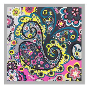 MENGLINXI 60см * 60см 2019 Новый люксовый бренд Богемия Paisley Женщины саржевого шелковый шарф Малый квадрат шарфы Печать оголовьем