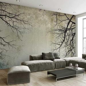 Filiali sfondo personalizzato 3D Photo Home Decor stile nordico creativo di arte astratta Albero Papel De Parede desktop murale 3D Wallpaper