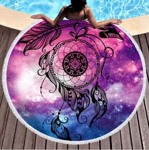 500 Styles Towels Mandala Tapestry Round 150cm Soft Beach Towel For Adults Wall Hanging Microfiber Bath Towel With Tassel Throw Yoga Mat