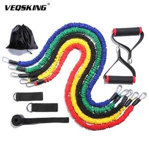 11pcs set Pull Rope Fitness Exercises Resistance Bands Latex Tubes Excerciser Body Training Workout Yoga Elastic Bands