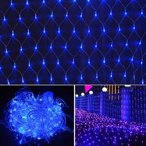 LED rede líquida 220V 2m * 2m 144leds string líquido luz à prova d 'água ao ar livre decorativo feriado Natal luz fada luz